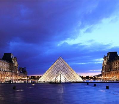 Eröffnung: Glaspyramide Louvre