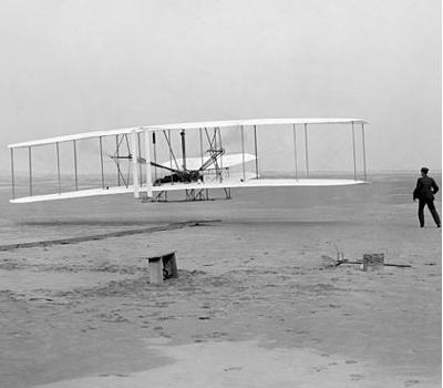 Erster Motorflug: Brüder Wright