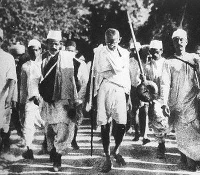 Salzmarsch: Mahatma Gandhi
